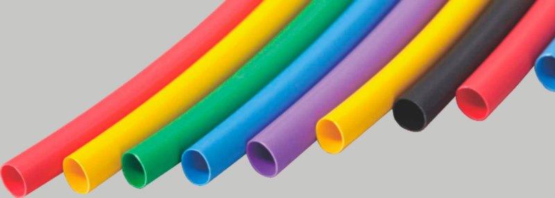 Тонкостенные однослойные термоусаживаемые трубки без клея